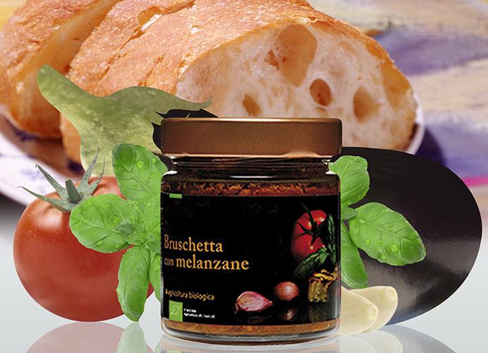 Bio Condimenti per Bruschetta con Melanzane