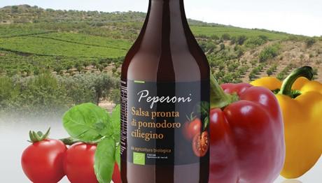 Sugo Biologico Pomodoro Ciliegino e Peperoni